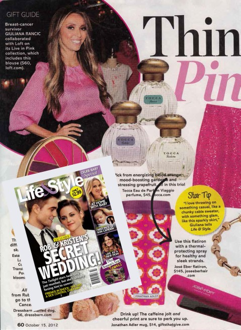 Jose Eber Pink Flat Iron Featured in Life & Style