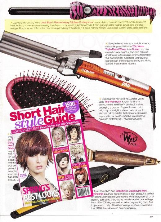 Jose Eber Pink Zebra Clipless Curler in Short Hair Style Guide