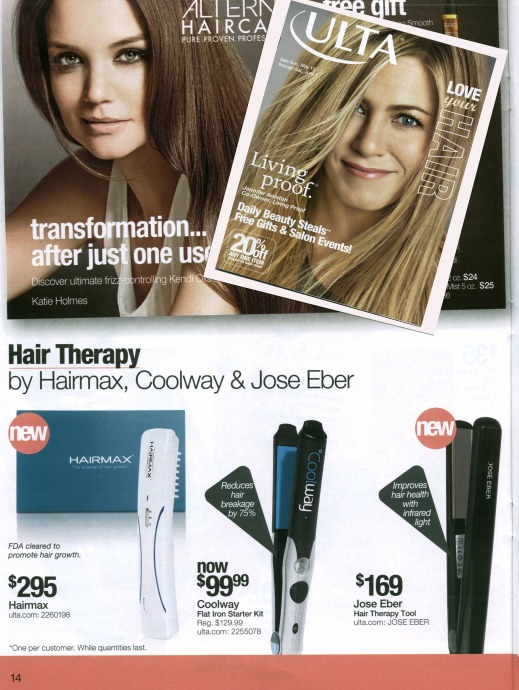Therapy RX featured in ULTA Catelog