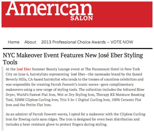 Jose Eber Hair event in American Salon