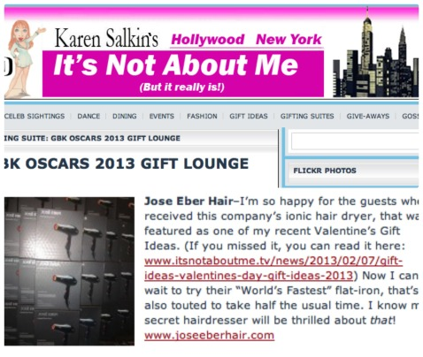 Jose Eber Hair at the Oscars Gifting Suite