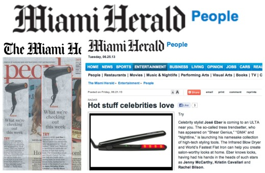 Jose Eber Hair featured in Miami Herald