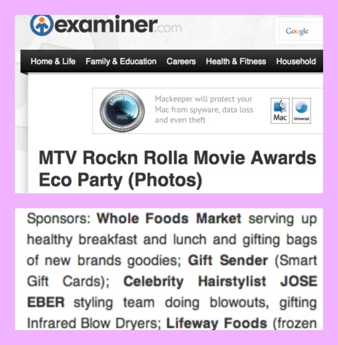 Jose Eber Hair at the MTV Rockin Rolla Movie Awards Eco Party