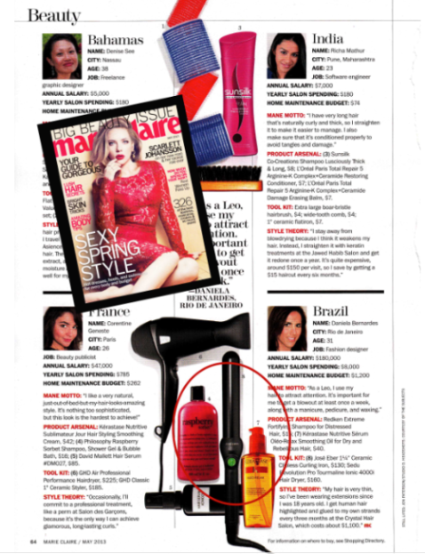 Jose Eber Hair featured in Marie Claire