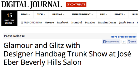 Luxury Trunk Show at Jose Eber Salon in Digital Journal
