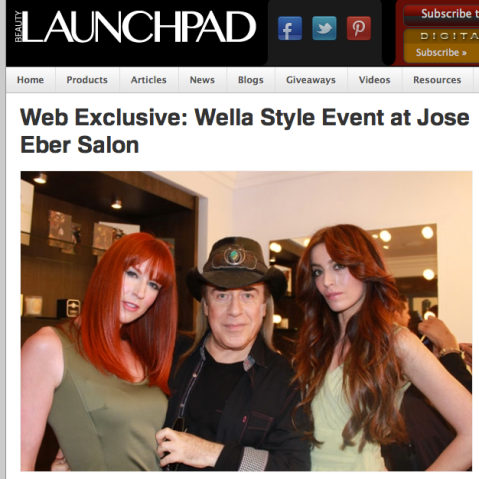 Wella Event at Jose Eber salon in Beauty Launchpad