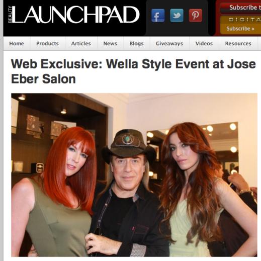 Wella Event at Jose Eber salon in Beauty Launchpad
