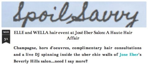 Spoil Savvy talks about the Wella Event