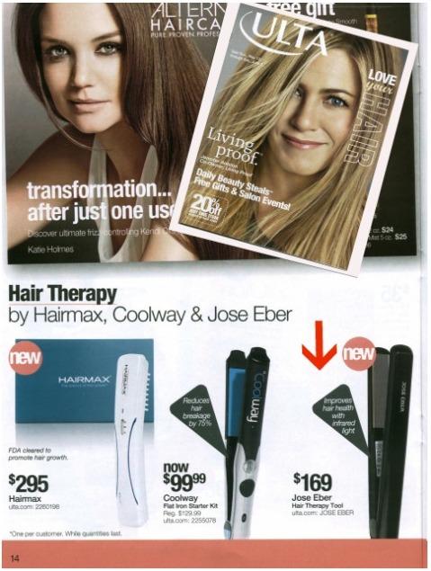 Jose Eber Hair featured in ULTA Catalog