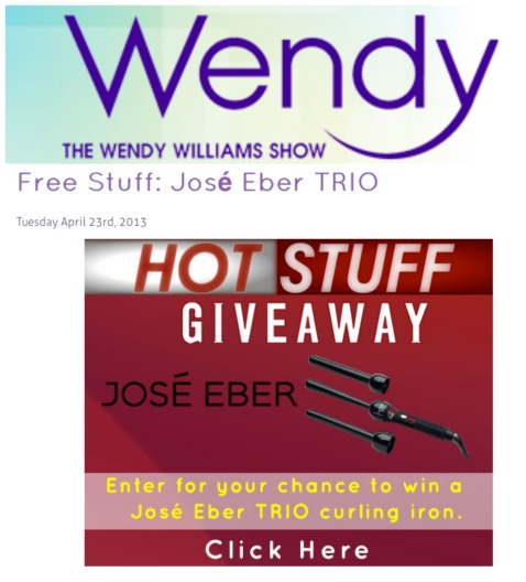 Jose Eber Hair Trio given away on the Wendy Williams Show