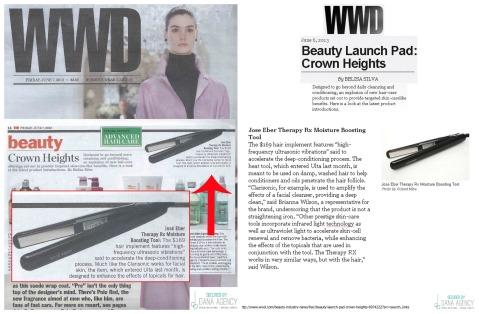 Jose Eber Hair featured on WWD print and website