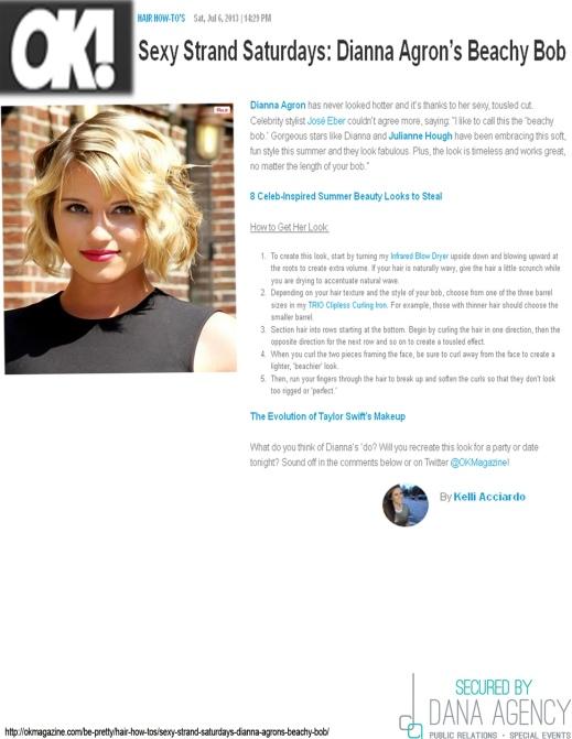 OK! Magazine Features Jose Eber Summer Style Advice