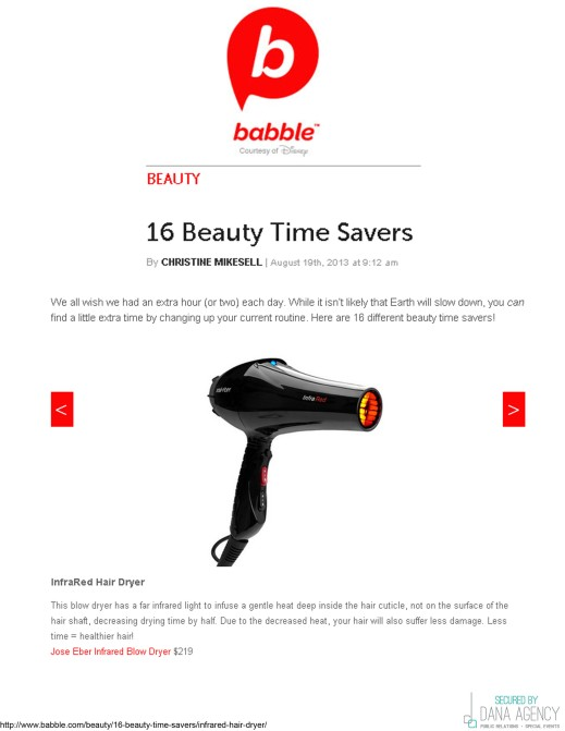 The Jose Eber Hair Infrared Blow Dryer on Babble.com