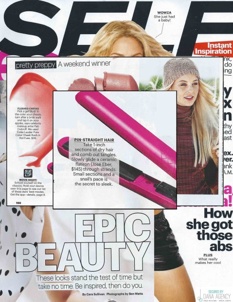 SELF Magazing features the Jose Eber Hair Flat Iron