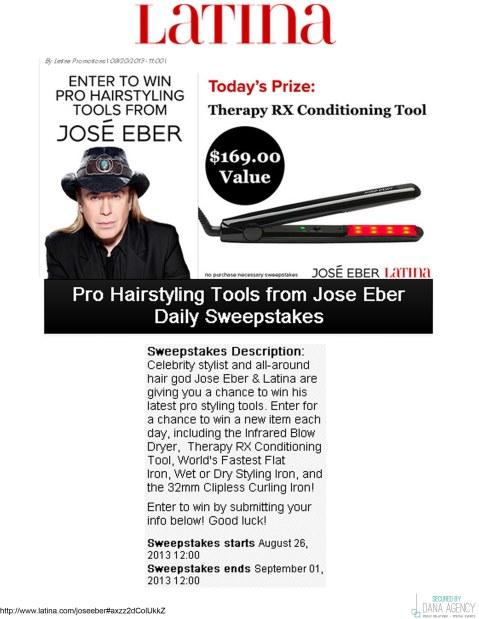 Jose Eber Hair Featured on Latina.com