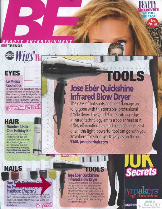 Jose Eber Hair in Beauty Entertainment Magazine