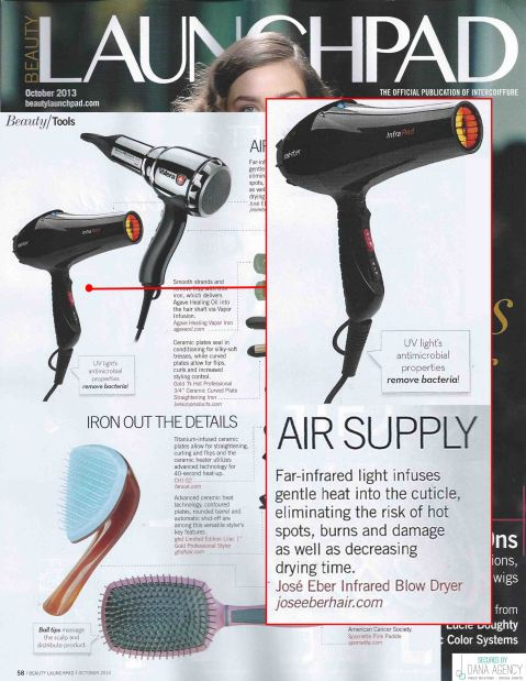 Beauty Launchpad Features Jose Eber Hair Infrared Dryer