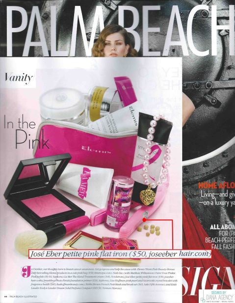 Palm Beach Illustrated Features Jose Eber Hair Petite Flat Iron