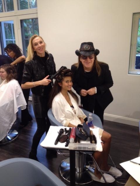 José Eber styling Catherine Giudici for The Bachelor Wedding!